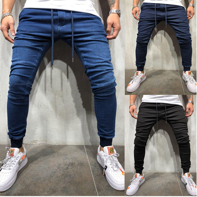 The Cheapest Jeans Work Pants Skinny Jeans Slim Fit Ripped Jeans Big And Tall Stretch Blue Jeans For Men Distressed Elastic Wais