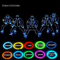 10 Colors Options Dance Costume Supplies Jazz Led Costume Halloween Cosplay EL Costume Neon Led Light Cool