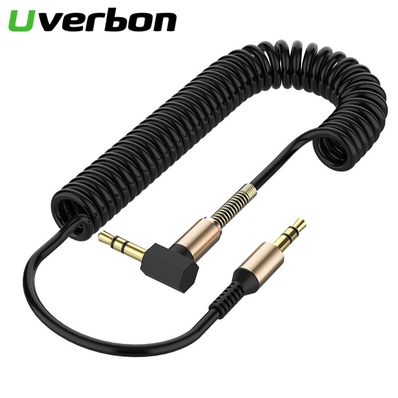 3.5 Jack Audio Cable Male To Male Aux Cable For Car Xiaomi Redmi 5 Plus 3.5 MMSpring Headphone Code For Oneplus Samsung Android