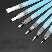 6 יח\חבילה נייד מברשת צבע מים צבע מברשת עיפרון רך בצבעי מים מברשת עט למתחילים ציור ציור אספקת אמנות