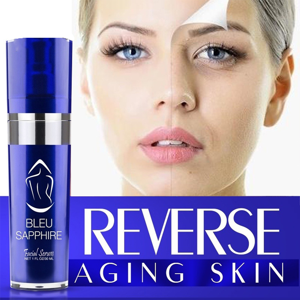 10ml Instant Enhance & Transpform Your Skin Bleu Sapphire Anti-Aging Facial Serum Anti Wrinkle Whitening Skin Serum