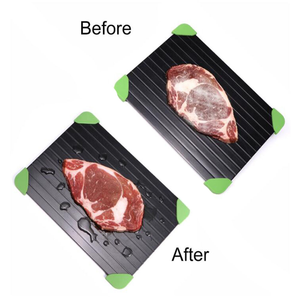 Magic Fast Defrost Tray Metal Plate Defrosting Tray Safe Fast Thawing Frozen Meat Fish Sea Food Kitchen Cook Gadget Tool 0.2CM/0