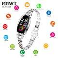 MNWT H8 Модные Умные Наручные Часы Женщины Цифровые Часы Женские 2019 Водонепроницаемые Мониторинг Сердечного ритма Bluetooth Для Android IOS