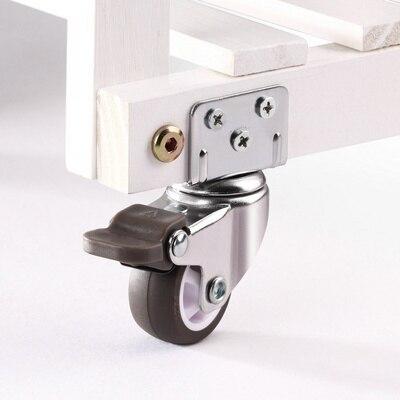 4 pçs móveis rodízio rodas rodízio de borracha macia carrinho de bebê rodízio rodas cama acessórios para casa-3