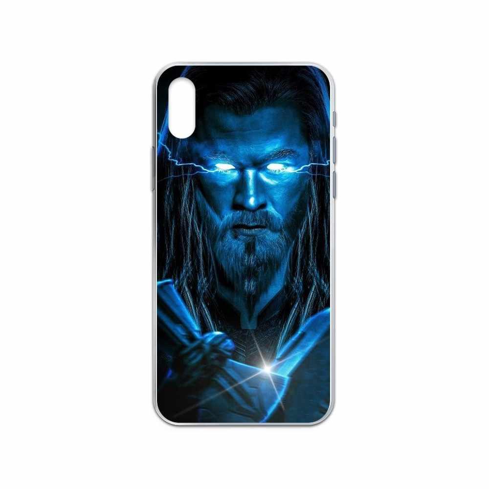 Marvel Thor Hammer AX Rental Sel Penutup Transparan untuk iPhone 4 4S 5 5C 5 5S 6 6S Plus 7 8 X XR X 11 Pro Se 2020 Max