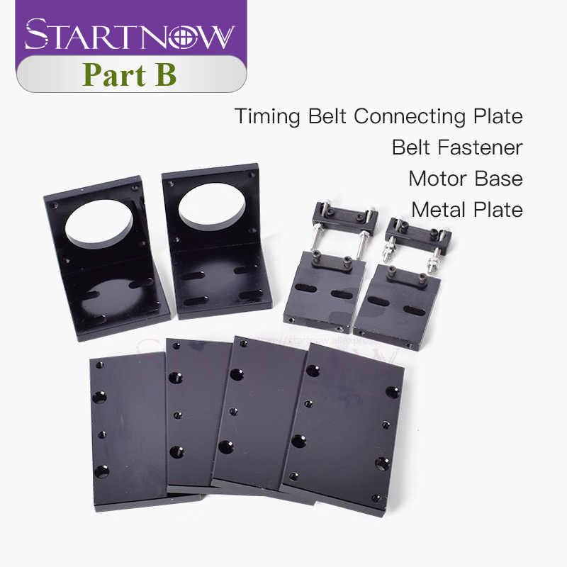 Kit de Metal Startnow DIY CO2 láser, máquina de corte láser, componentes de Hardware, dispositivo de montaje espejo láser para piezas de repuesto de juego mecánico