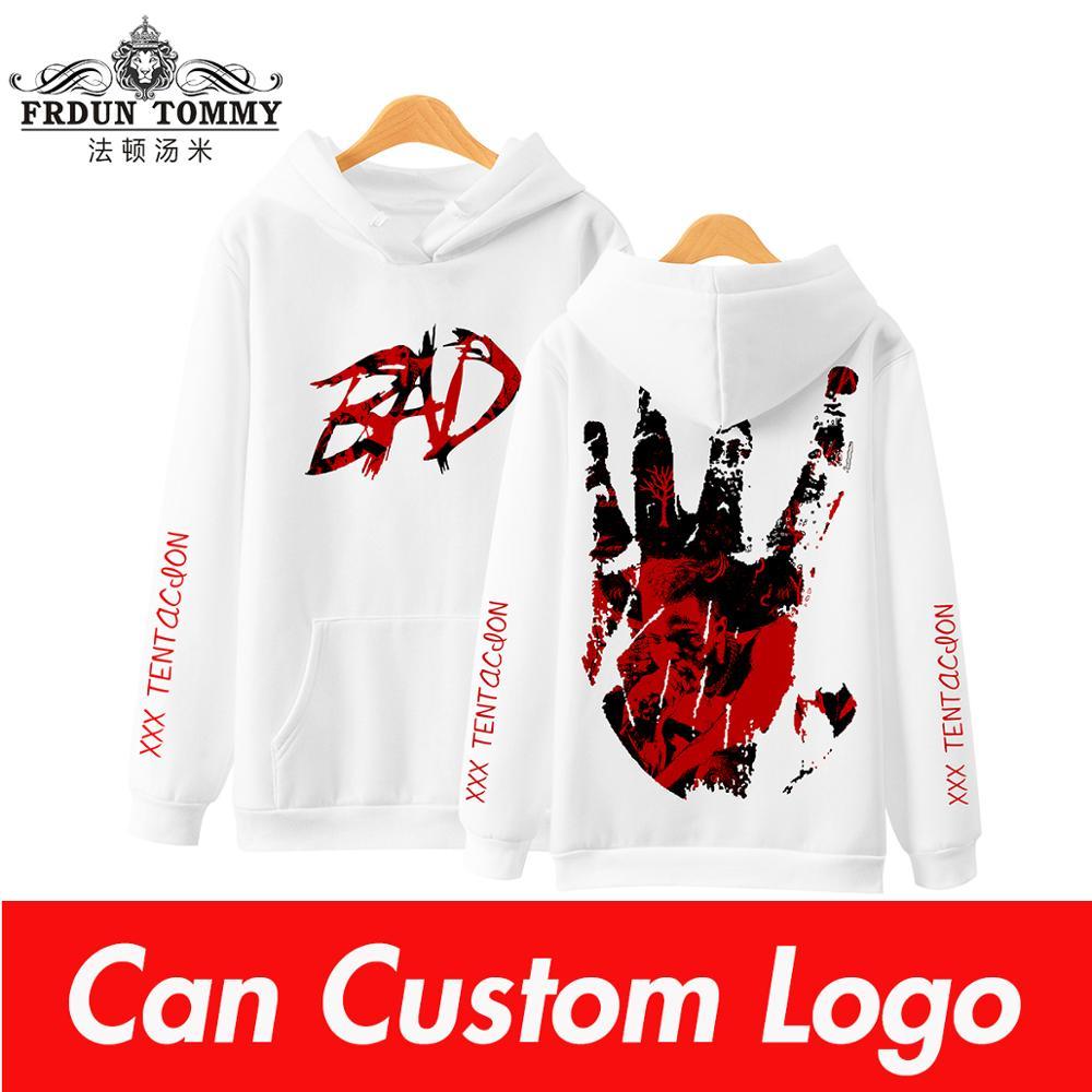 Frdun Tommy 3D XXXTENTACION Hoodies Sweatshirt Fashion Soft Winter/Autumn Hoodies New Kpop Hip Hop Long Sleeve Sweatshirt