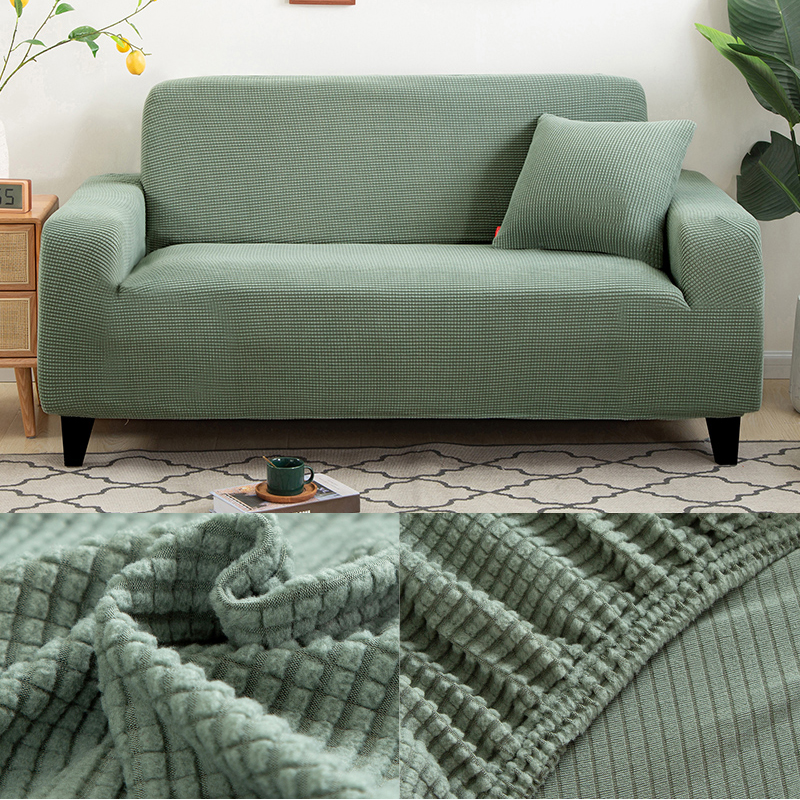 Sofa-Covers Sofa-Protector Jacquard Printed Living-Room L-Shape Solid Thick for Corner