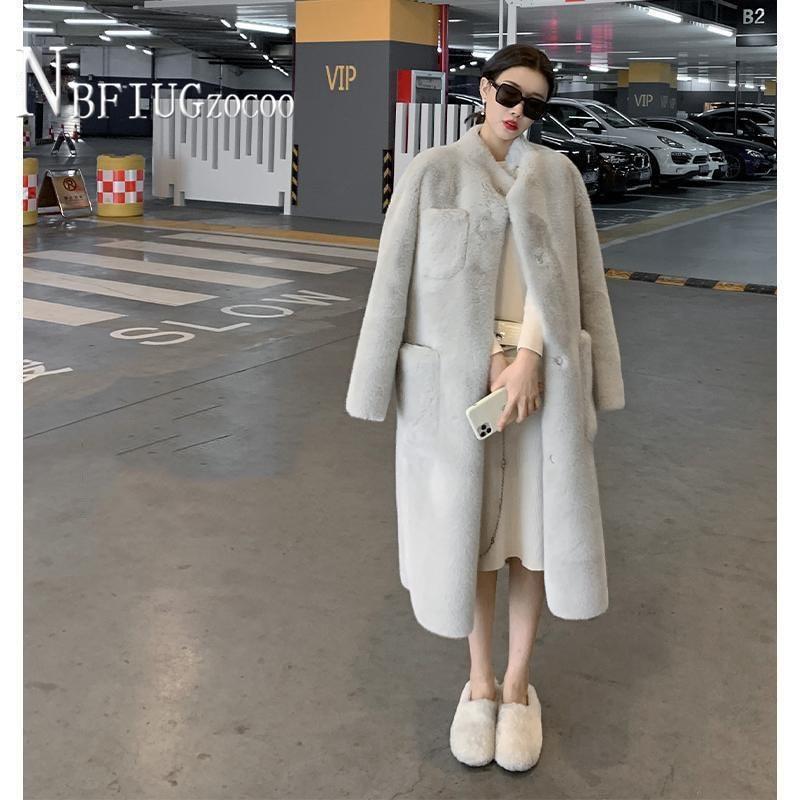 2020 Winter Women Coat Easy To Match Long Style Temperament Imitation Lambswool Female Jacket