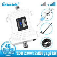 Lintratek 4G internet cellular signal booster TDD Band40 cellphone signal booster amplifier 4g repeater 2300MHz for smart phone