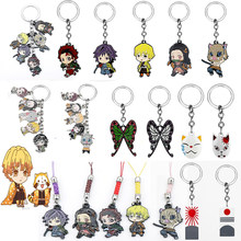 Porte-clé avec pendentif, inspiré du dessin animé japonais, tueur de démons, Tanjirou, Kamado, Nezuko, Zenitsu, Shinobu, Cosplay