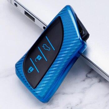Funda completa de TPU de fibra de carbono para llave de coche Lexus ES350 UX250/UX260 IS ES GS NX RX LX GS GX 2019 2020 accesorios para automóvil