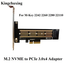 Kingchuxing M2 SSD nvme to PCIe 3.4*4 Solid State Drive Adapter Riser Expansion Card 2242 2260 2280 Full Speed 32Gbps