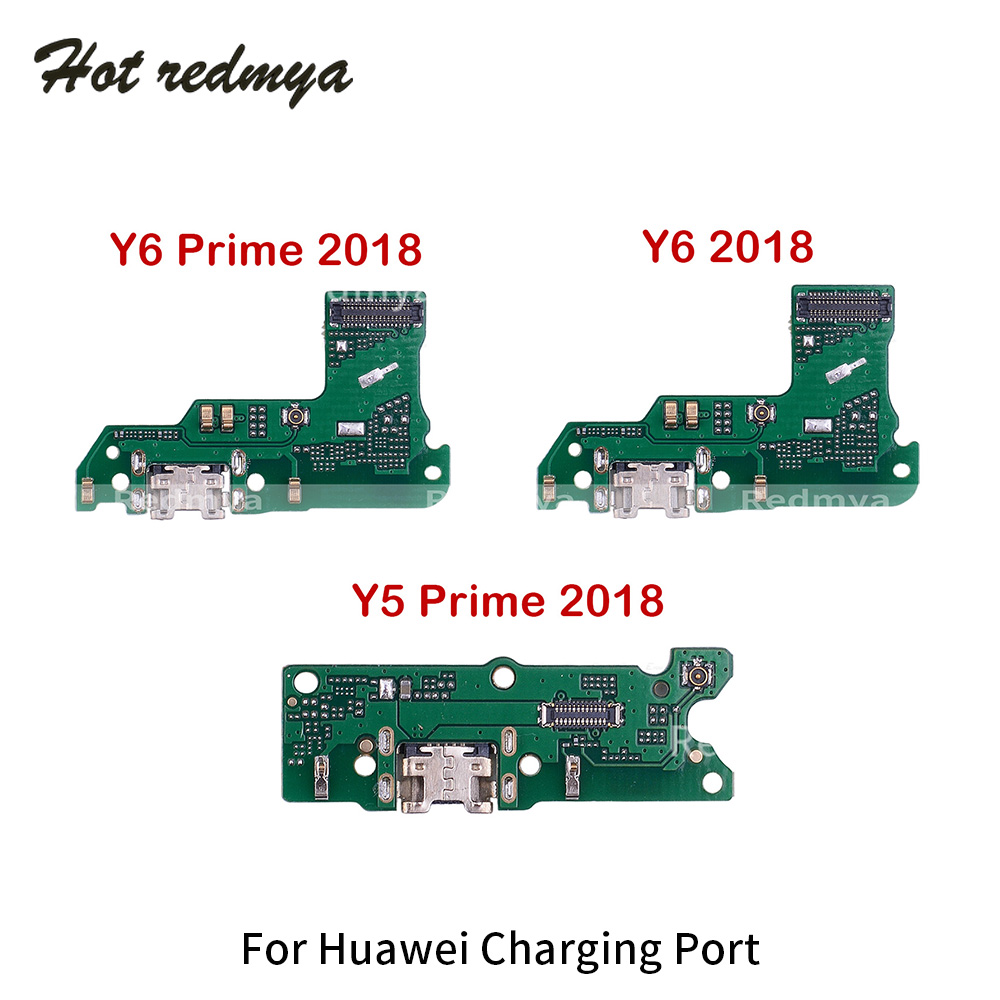 Charging Dock For Huawei Y6 Y5 Prime 2018 USB Charging Port Connector Flex Cable Microphone Module Board Replacement Parts