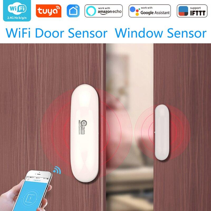 1/2/3/4Pcs/lots WiFi Smart Door/Window Detector Sensor APP Notification Alerts Home Security Work Alexa Echo Google Home IFTTT