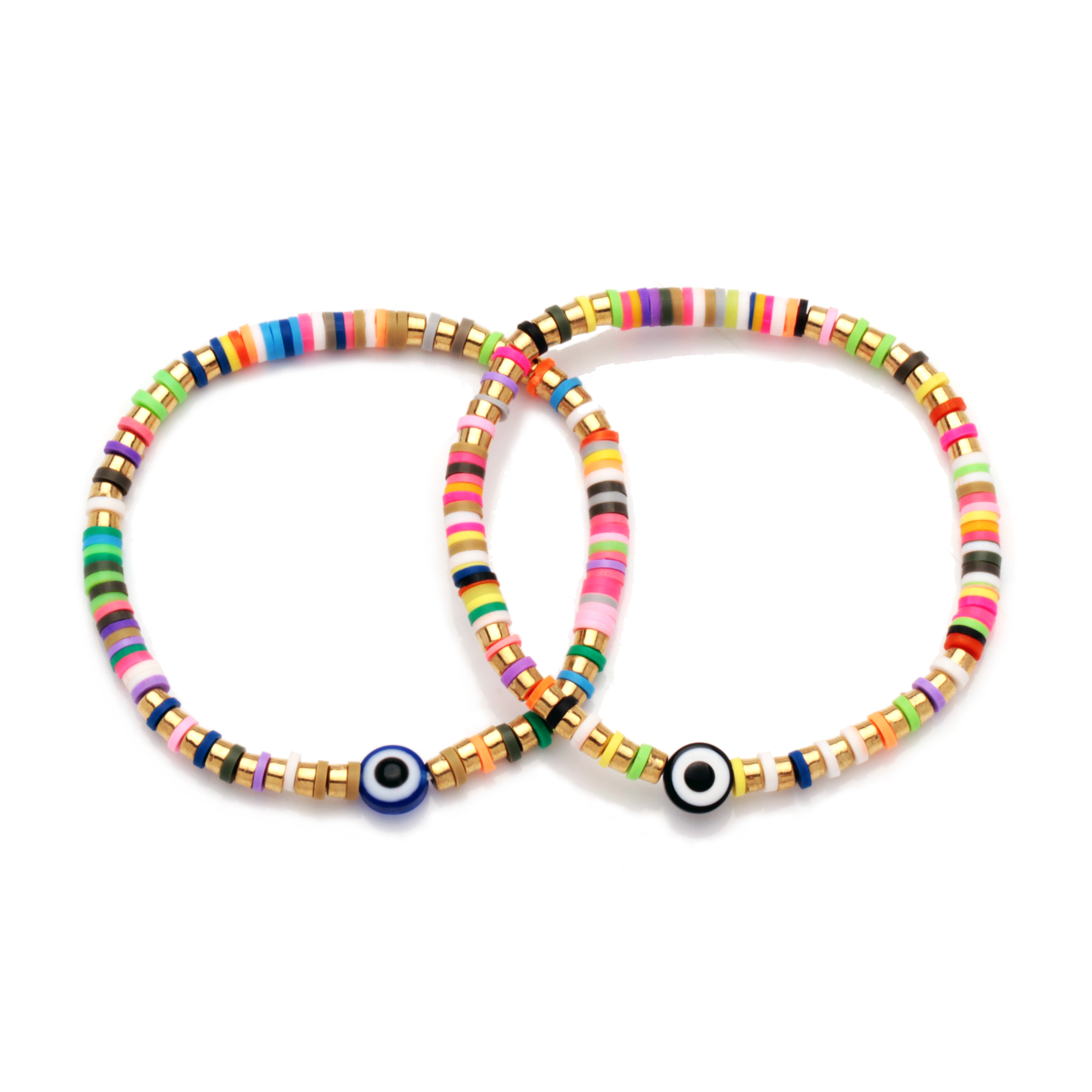 Heishi bead bracelet with accent heishi bead jewelry everyday bracelet for woman gift for Mother\u2019s Day beaded bracelets for women