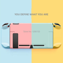 For Nintendo Switch NS JoyCon Case cover Coloful PC Protective Outer Coque Shell Nintend Switch Console Detachable Ultra Thin