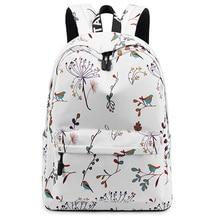 New Casual Waterproof Female Backpack Flower Print Girls College Notebook Backpack Ladies Travel Backpack allover vintage flower print backpack black