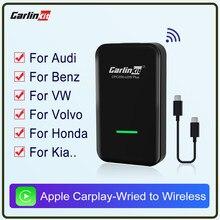 Carlinkit 2.0 apple carplay sem fio ativador carplay para audi porsche wv volvo auto conectar sem fio adapte carplay ios auto