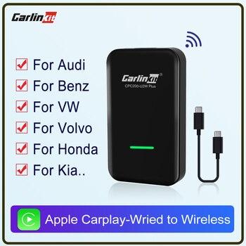 Carlinkit 2.0 Apple CarPlay  Wireless Carplay Activator for Audi Porsche WV Volvo Auto Connect Wireless Adapte Carplay IOS Auto