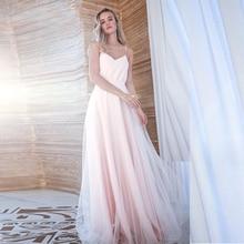 Verngo 2020 Simple Evening Dress Fashion A-line Gown V-Neck Formal Long Party Vestido Longo Festa
