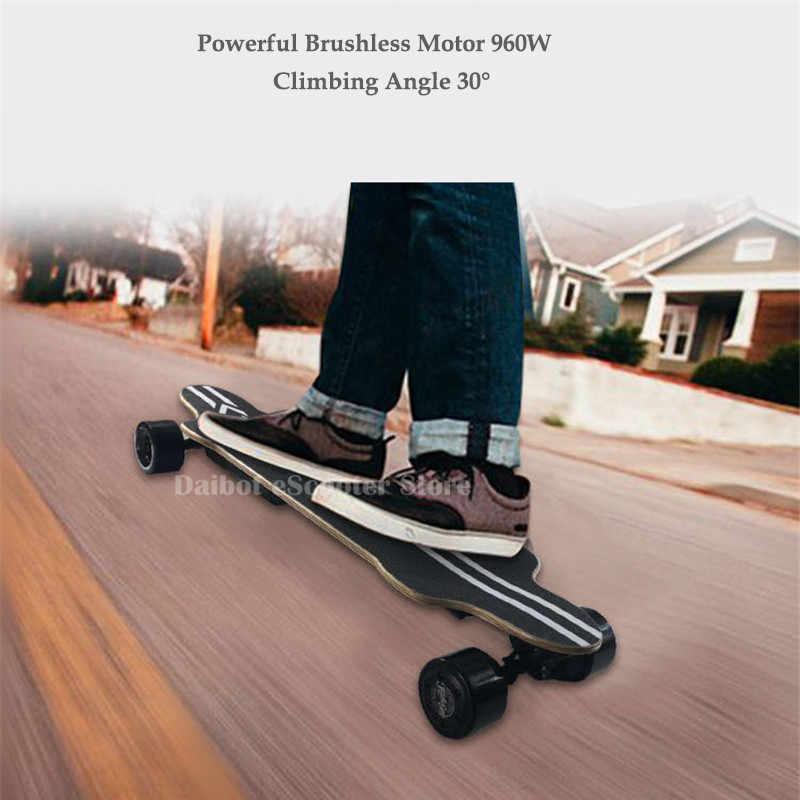 Elettrico di Skateboard Per Adulti 4 Ruote Monopattini A Motore Elettrico Doppio Azionamento 480W 36V 40 km/h Longboard Skateboard Elettrico