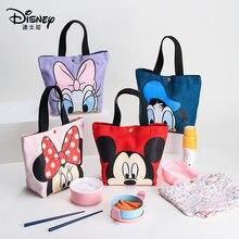 Joli sac à main avec les personnages de Disney en toile, petit accessoire à hanses, décontracté très mode et tendance, avec les figures de Mickey et Minnie, pour transporter les boîtes déjeuner et autres,