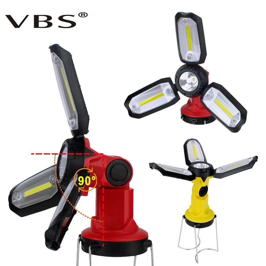 6mods LED Garage Light Built-in Battery  USB Charging Searchlight For Officina Warehouse Workshop Industrial Maintenance Light
