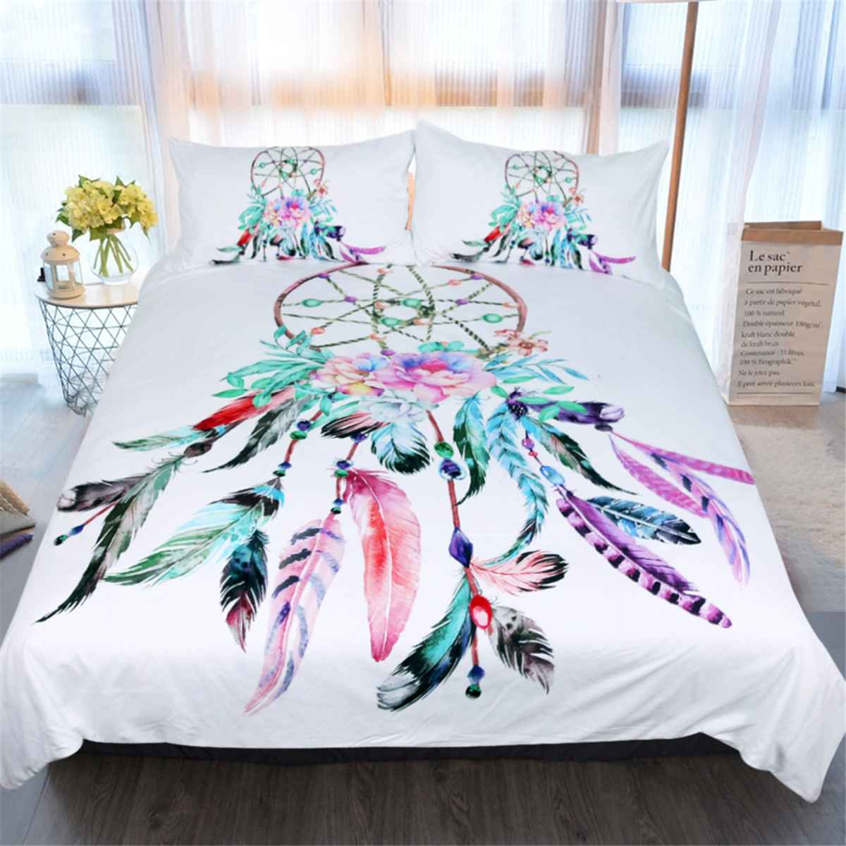 Feather Dream Catcher Duvet Quilt Cover Bedding Sets Single/Double/Queen/King Duvet-Cover-Sets