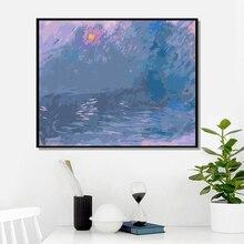 YIJIE – peinture par nombres, dessin par impression sur toile, cadeau artistique, avec les nombres de james Monet, peinture peinte à la main