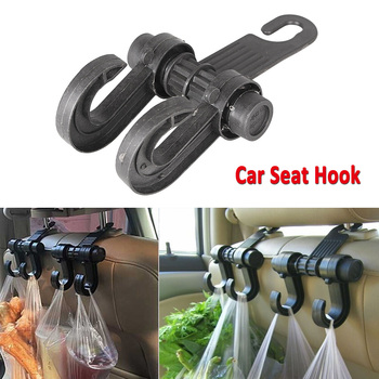 Car Interior Seat Double Hook Coat Purse Bag Holder Organizer Hanger Aluxiliary Hook Universal for BMW Honda SUV Automobile image