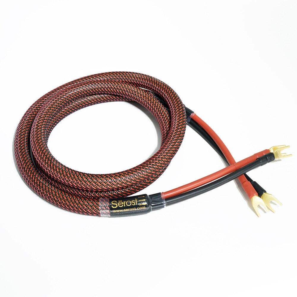 Serost hifi haut de gamme Audio 6N OFC + argent plaqué or câble haut-parleur amplificateur Hifi Audio lecteur CD amplificateur cristal câble