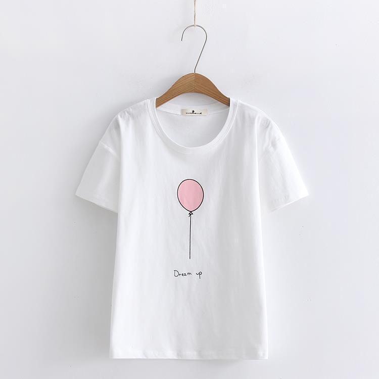T-Shirts 2019 Summer T Shirt Women  Casual  Short Sleeve O-Neck Ladies Female