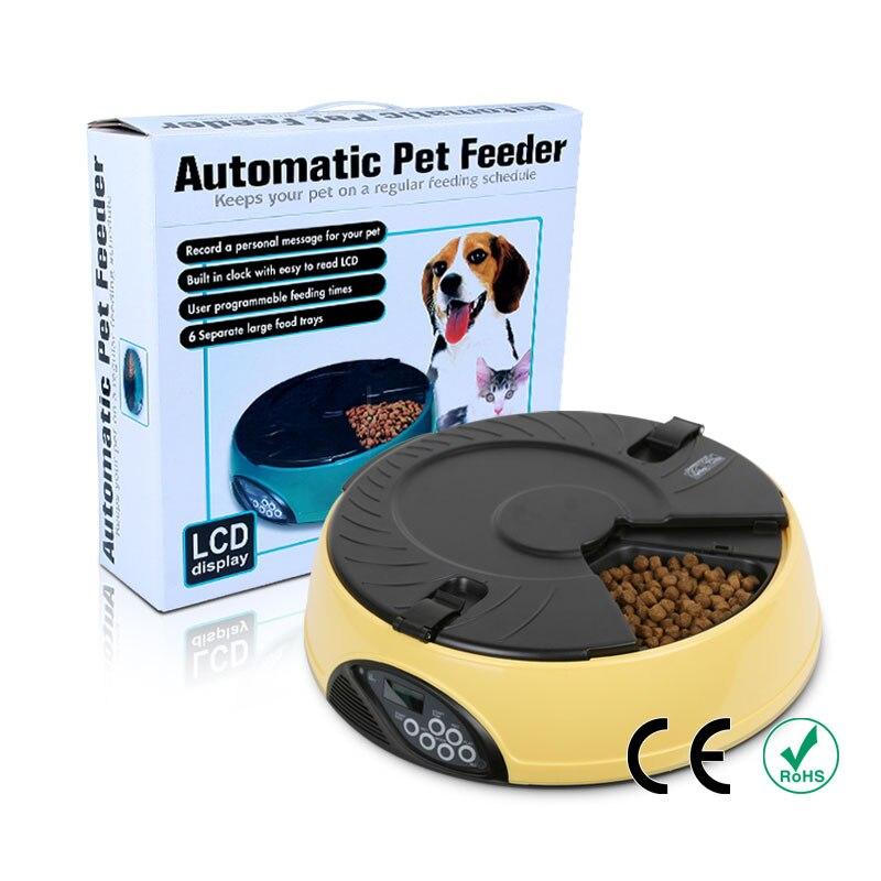 Bol automatique pour animaux | 6 repas, bol pour animal de compagnie, chat, chien, plateau d'alimentation, LCD affichage fournitures automatique s