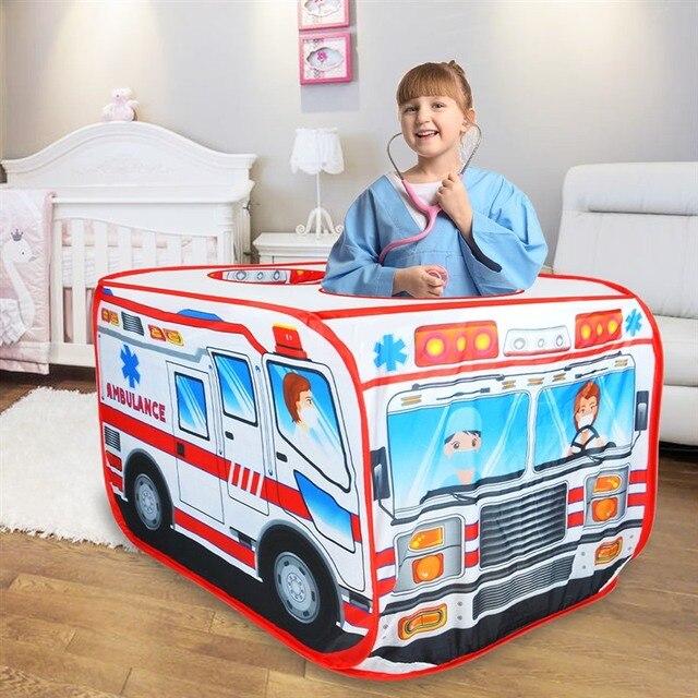 Детская игровая палатка, игрушечная Игровая палатка для машины скорой помощи, Игровая палатка для дома и улицы, детская игровая площадка, Игровая палатка