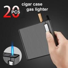 20 шт. емкость коробка для сигарет с газовыми зажигалками водонепроницаемый лак чехол для сигарет держатель многоразовые гаджеты для мужчин