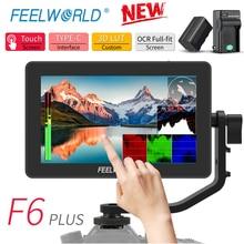 FEELWORLD F6 בתוספת 4K צג 5.5 אינץ על מצלמה DSLR 3D LUT מסך מגע IPS FHD 1920x1080 וידאו 4K HDMI שדה צג Dslr