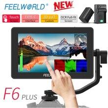 Feelworld F6プラス4 18kモニター5.5インチデジタル一眼レフ3D lutタッチスクリーンips fhd 1920 × 1080ビデオ4 hdmiフィールドモニタデジタル一眼レフ