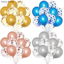 Twins Party 10pcs  12inch Wedding Decoration Latex Balloons Birthday Confetti Baby Shower Boy Girl Decor
