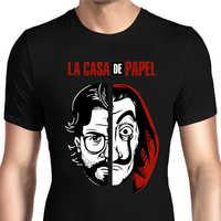 Salvador Dali Camicia La Casa di Carta Rapina Cosplay Costume Unisex di Estate di Stampa La Casa De Papel T Shirt Top
