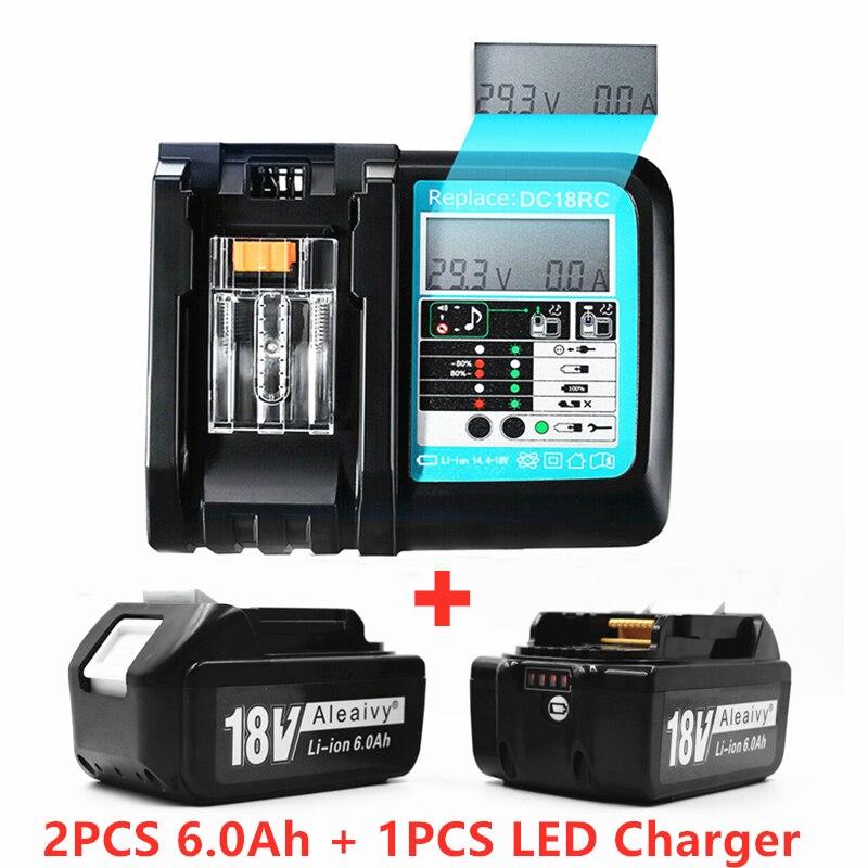 Аккумуляторная батарея BL1860 для Makita, литий-ионная батарея 18 в 6 Ач для BL1840, BL1850, BL1830, BL1860B, для инструментов Makita 18 в