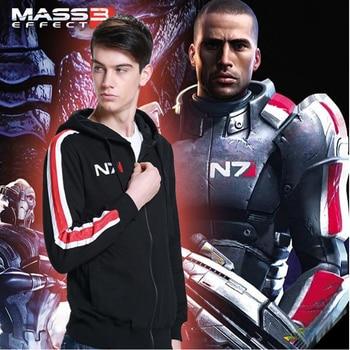 Mass Effect Hoodies Men Anime Zipper Sweatshirt Male Tracksuit Cardigan Jacket Casual Hooded Hoddies Fleece Jacket N7 Costume 1