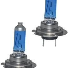 2X автомобильный светильник H7 f: кристально-голубой Автомобильная галогенная лампа 55W 100W 12V Супер белый головной светильник s противотуманных...