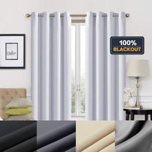 Modern Blackout Curtains for Living room Window For the Bedroom Blinds Finished Drapes Grey Ivory Black Luxury Curtain
