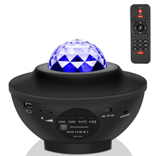 Projector Galaxy Night-Light Remote-Twinkling-Laser LED Starry Music Sky