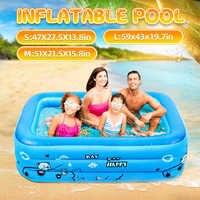 Bañera de baño para niños de 120/130/150cm para uso en el hogar para bebés, piscina cuadrada inflable para niños, piscina inflable para niños, envío gratuito