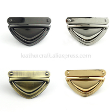 1x Metal Heavy duty Push Lock Clasp Tongue Lock Leather Craft Bag Purse Handbag Shoulder Bag Closure DIY Hardware Accessories push lock grab bag