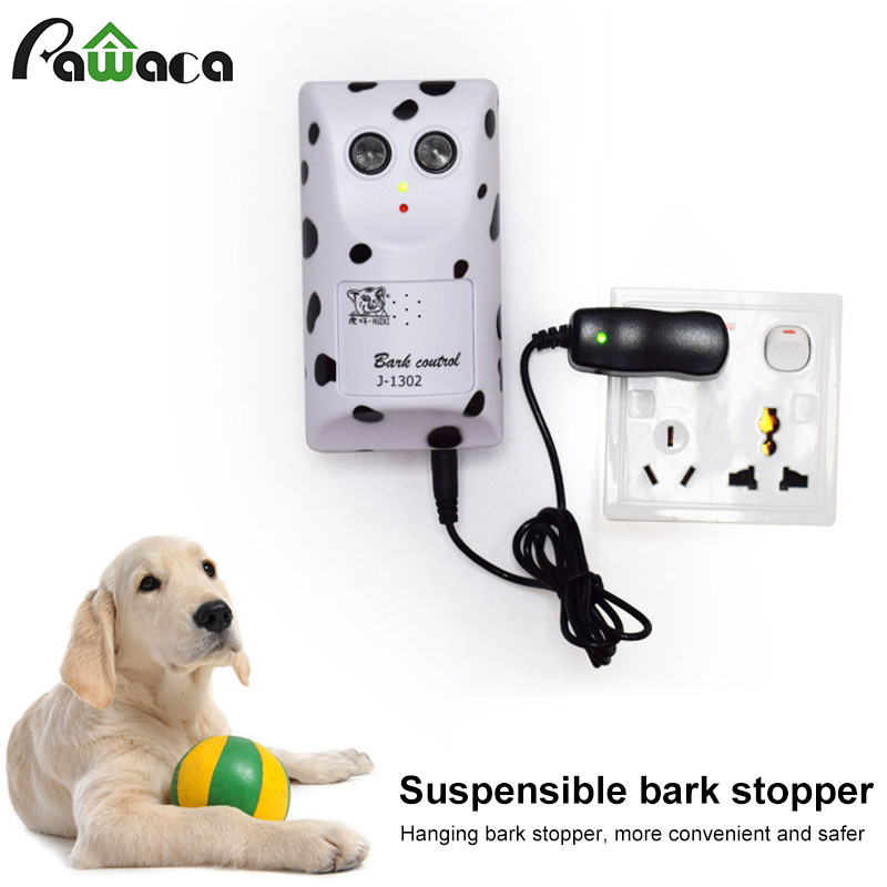 Ultrasonic Pet Dog  Repeller Wall Mounted Dog Repellent J-1302 Waterproof Outdoor Training Device Anti Barking Dog Silencer Tool