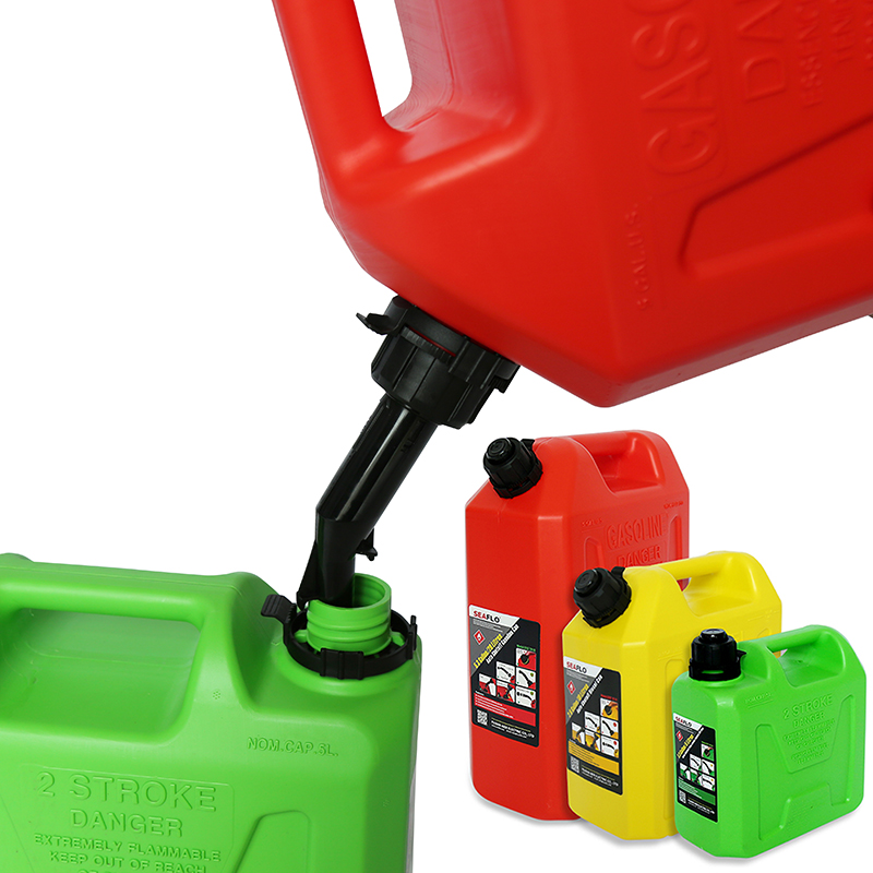 5L 10L 20L Boat Accessories Marine Outboard Engine Fuel Tank Oil Portable With Connector Plastic Anti-static Corrosion-resistant