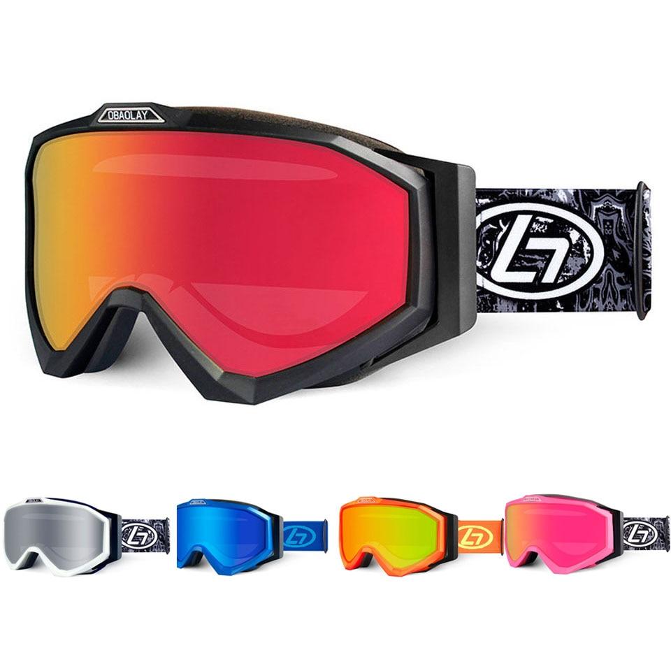 Очки для катания на лыжах и 100% UV400 Защита Анти-туман очки для катания на сноуборде для Для мужчин Для женщин Для мужчин Лыжный спорт, аксессуа...